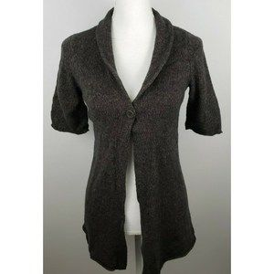Eileen Fisher short sleeve cardigan sweater SP
